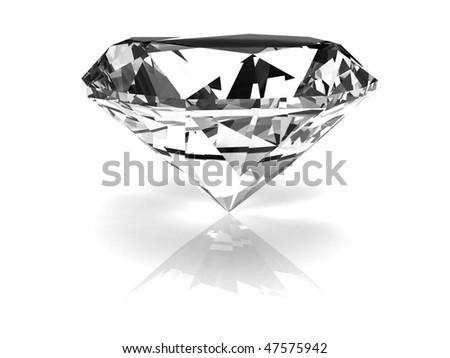 3d diamond - stock photo