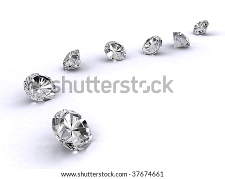 3d diamond art path - stock photo