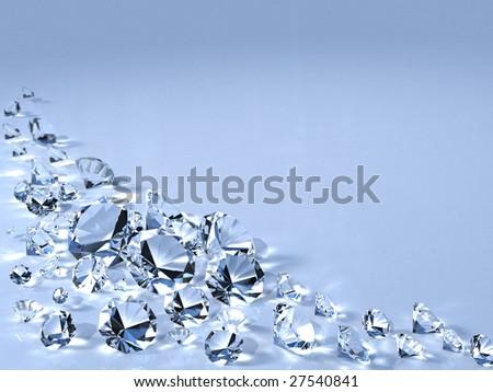 3d diamonds - stock photo