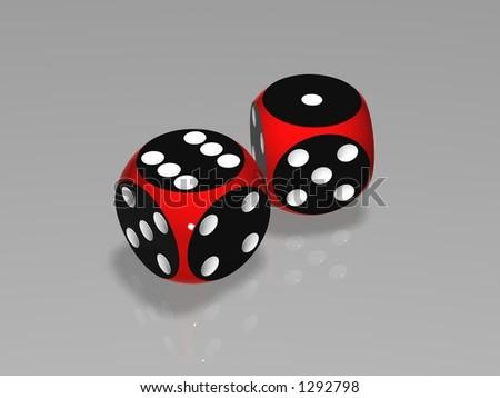 3D dice - stock photo
