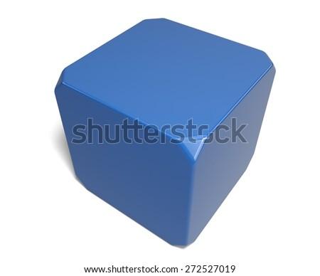 3D. Dice, Cube, Blank. - stock photo