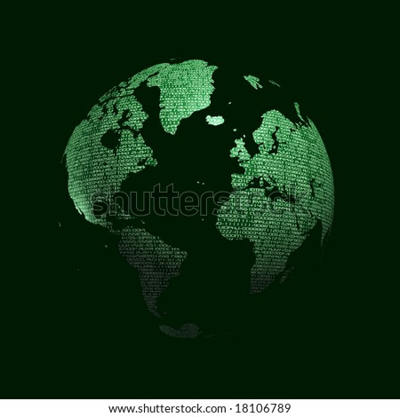 3d digital abstract earth planet - stock photo