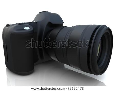 3D digital photo camera - stock photo
