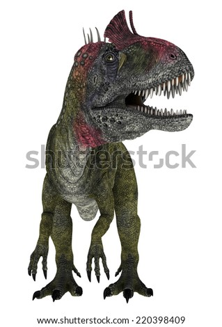 3D digital render of a dinosaur Cryolophosaurus isolated on white background - stock photo
