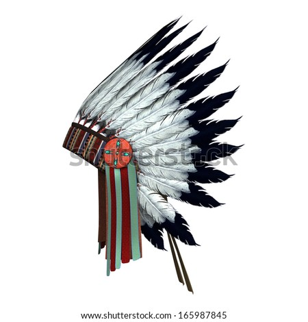 Stock Photo D Digital Render Of A Native American War Bonnet Isolated On White Background