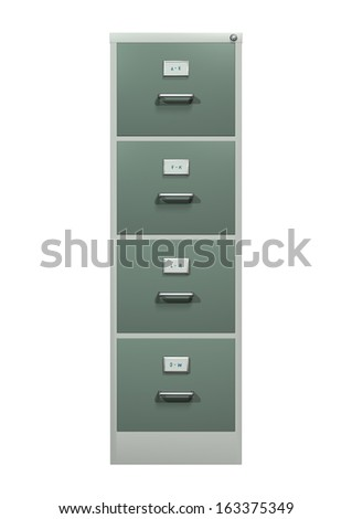 3D digital render of a stack cabinet isolated on white background - stock photo
