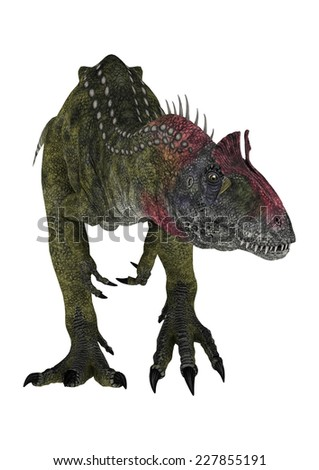 3D digital render of a walking dinosaur Cryolophosaurus isolated on white background - stock photo