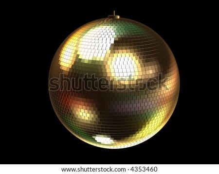 3d disco ball - stock photo