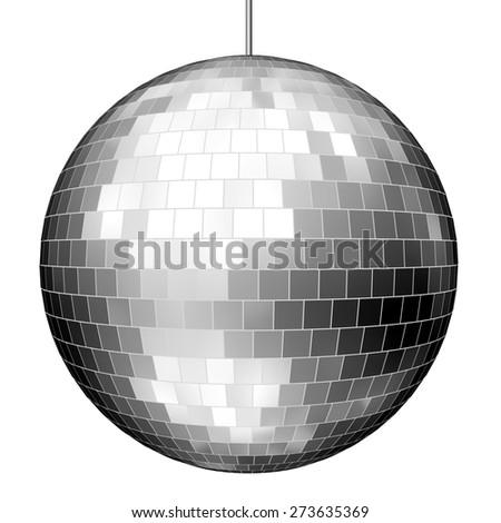 3D. Disco Ball, Mirror, Shiny. - stock photo