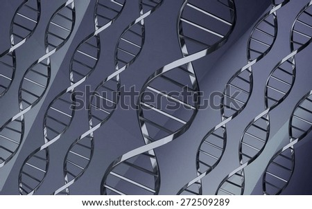 3D. DNA, Helix, Healthcare And Medicine.