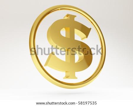 3d dollar sign - stock photo
