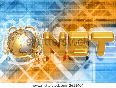 3D Dot NET CONCEPT - stock photo