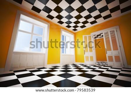 3d dream room concept - stock photo