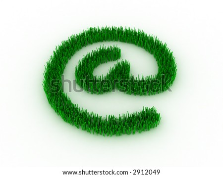3d--e-mail symbol - stock photo