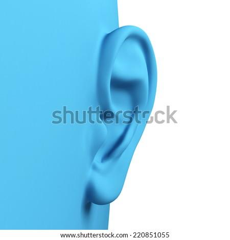 3d ear - stock photo