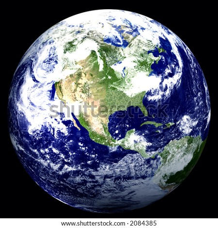 3D Earth Graphic - stock photo