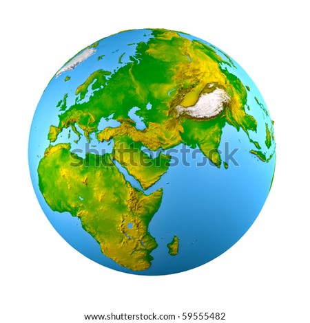 3d earth model shaded relief stock illustration 59555482 3d earth model with shaded relief sciox Gallery