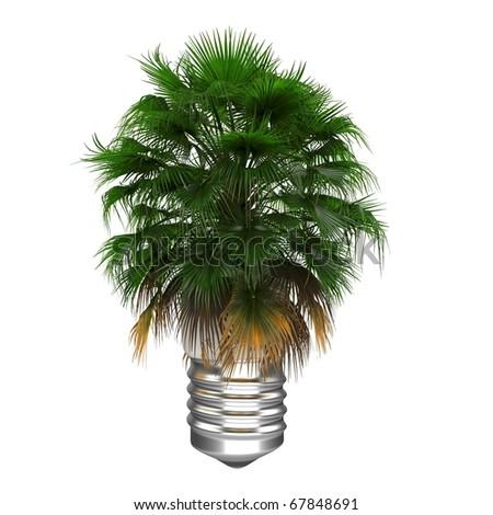 3d Eco energy concept - stock photo