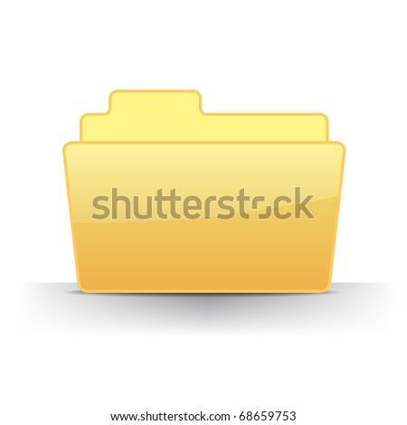 3d empty files folder icon illustration