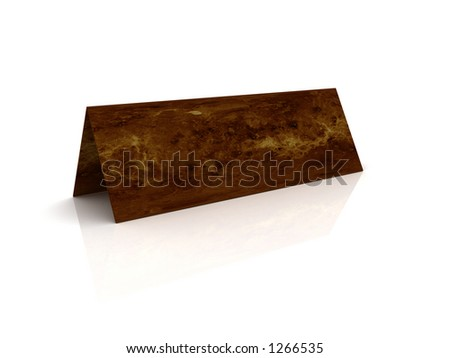 3D Empty Label on the table - stock photo