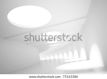 3d Empty Large Tunnel - stock photo
