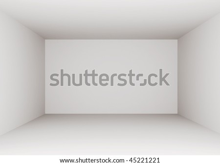 3D Empty Room - stock photo