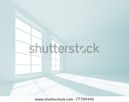 3d Empty Room - stock photo
