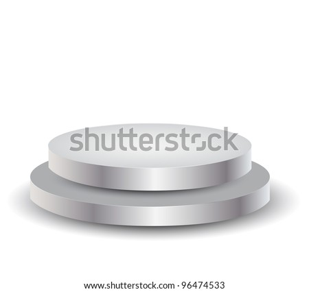 3d Empty white podium over white, illustration