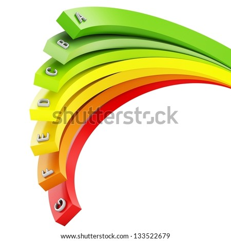 3d Energy efficiency concept on white background - stock photo