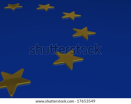 3d European union flag