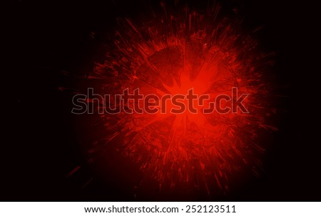 3d explosion background - stock photo