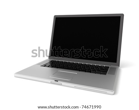3d fashionable notebook - stock photo