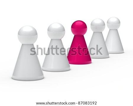 3d figure in a series with leadership
