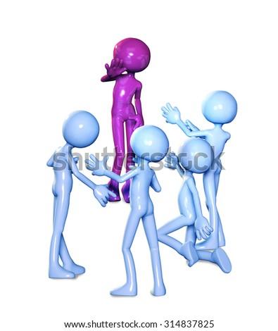 3d figures women men relationships  - stock photo
