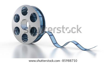 3d Film Strip on a white background - stock photo