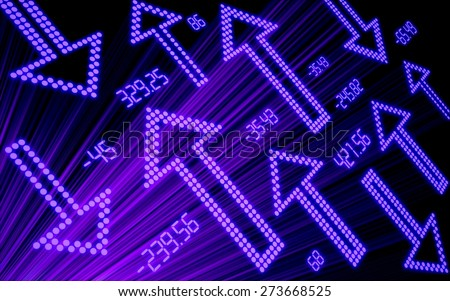 3D. Finance, Stock Market, Financial Figures. - stock photo