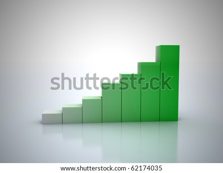 3d financial graph stat business background - stock photo
