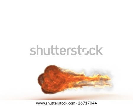 3d fireball - stock photo