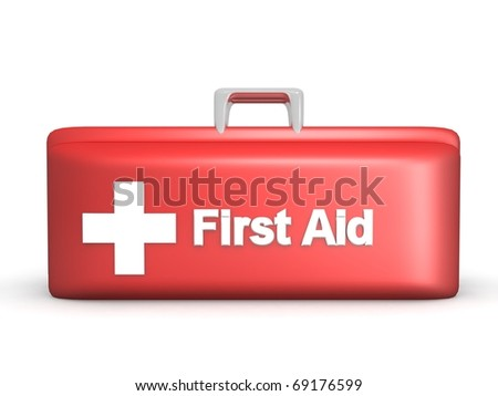 3D first aid kit - stock photo