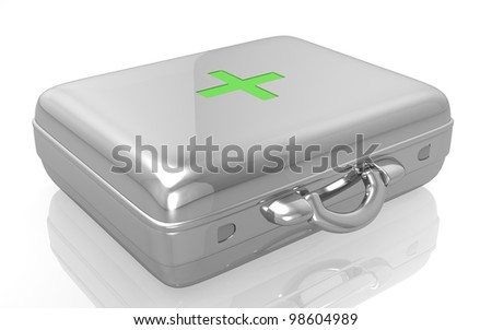 3d First aid kit isolated - stock photo