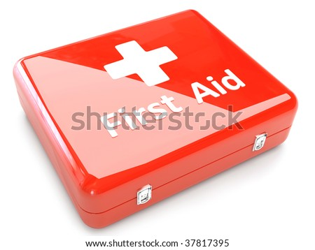 3d First Aid Kit Isolated On White Background - stock photo