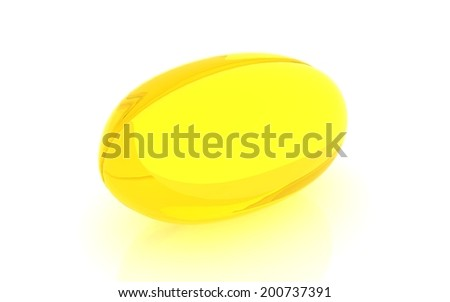 3d Fish oil - stock photo
