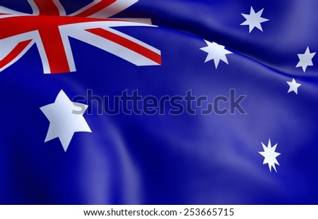 3D Flag of  Australia - stock photo