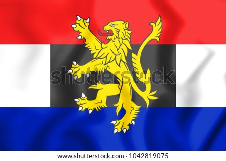3D Flag of Benelux. 3D Illustration.