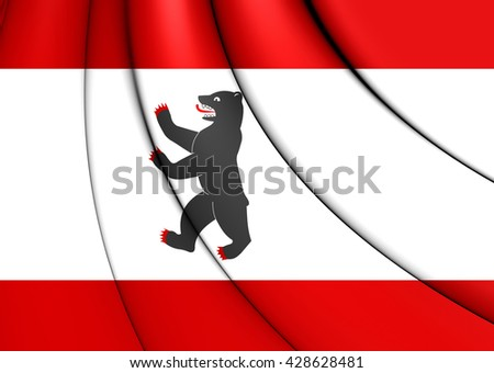 3D Flag of Berlin, Germany. Close Up.    - stock photo