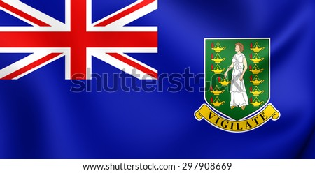 3D Flag of British Virgin Islands. Close Up.