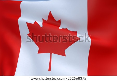3D Flag of Canada - stock photo