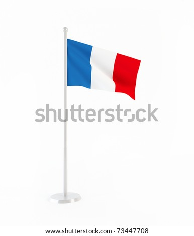 3D flag of France - stock photo