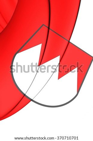 3D Flag of Franconia, Germany. Close Up.   - stock photo