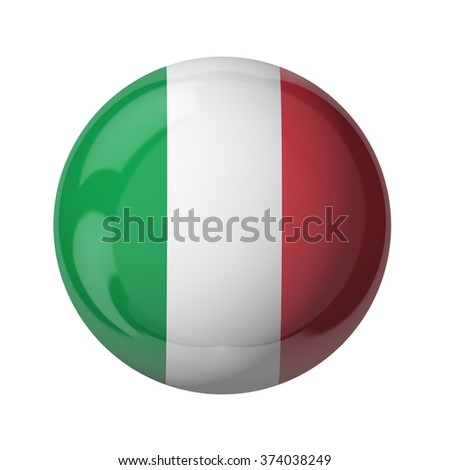 3D flag of Italy isolated on white